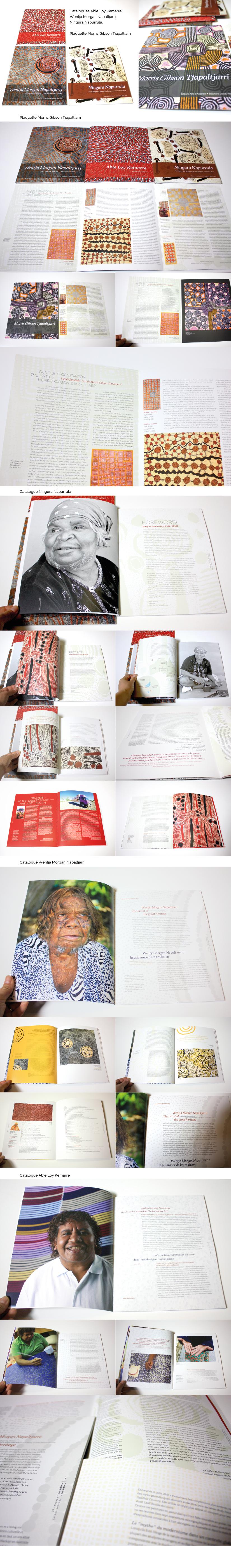 Design graphique catalogue artiste galerie beaux-arts