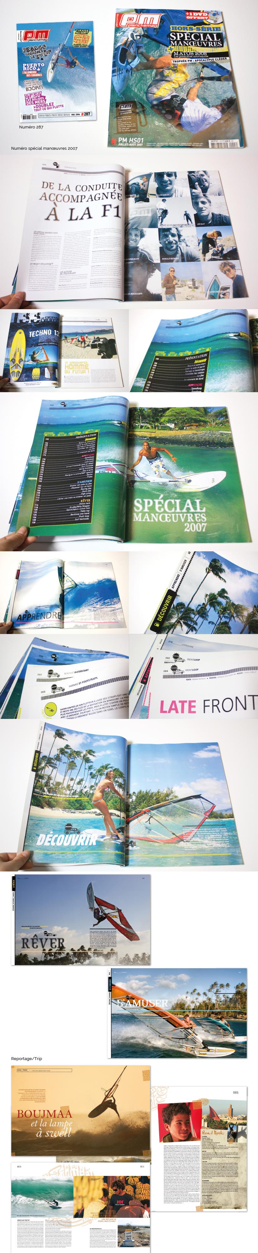 Da mise en page magazine kiosque sport windsurf