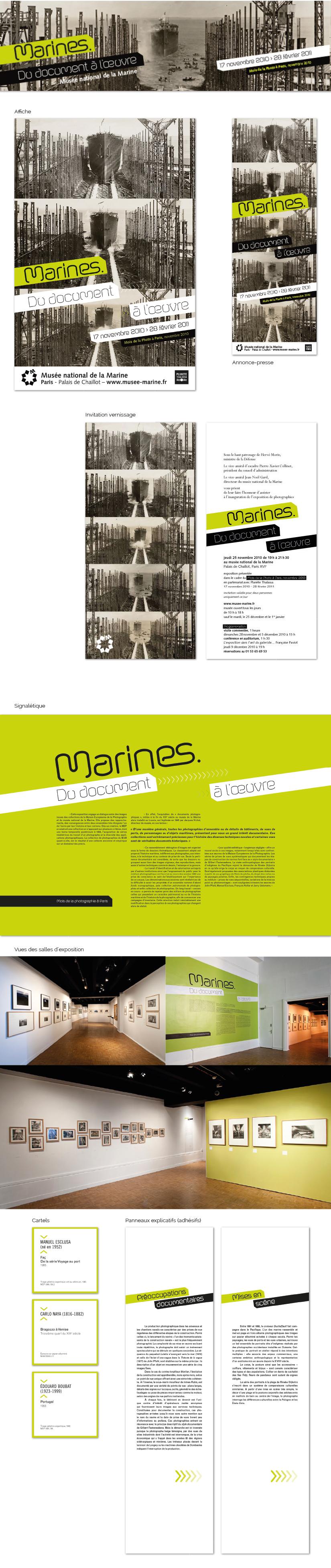 design graphique affiche signalétique exposition photographies kakemonos cartels