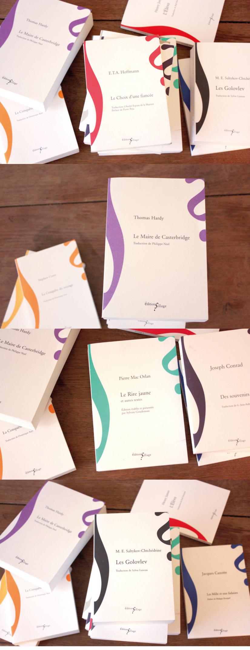 design graphique collection livres romans librairie