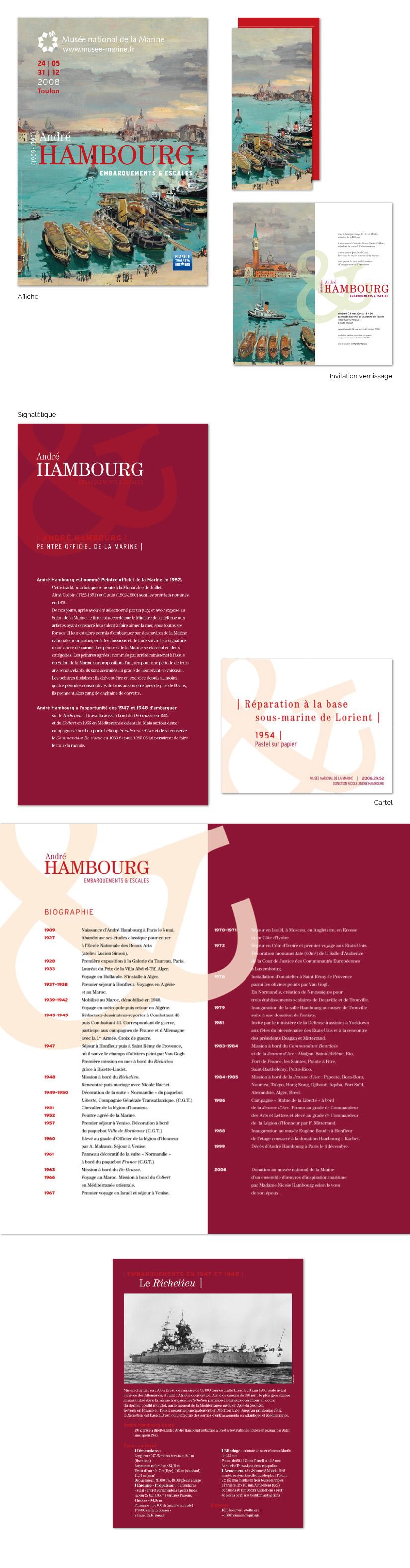 design graphique signalétique exposition historique kakemonos